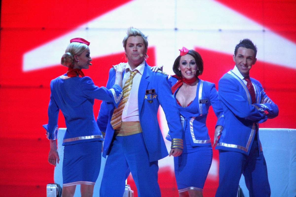 Британската музикална групаScooch на Евровизия през 2007 г.