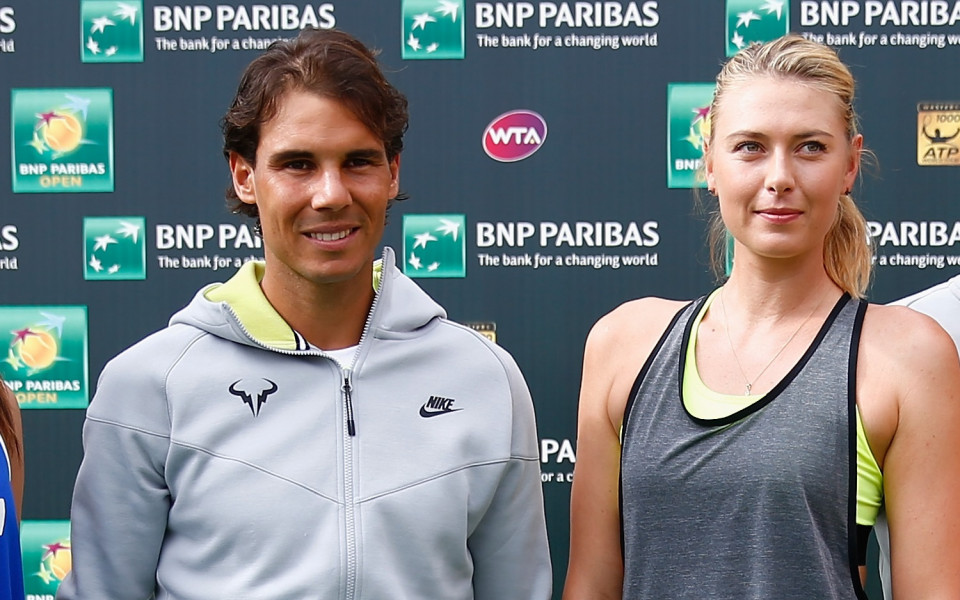 Испанският тенисист Рафаел Надал определи Мария Шарапова като изключителен спортист