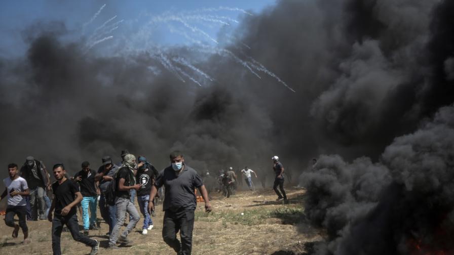 Сблъсъците между палестинци и израелската армия