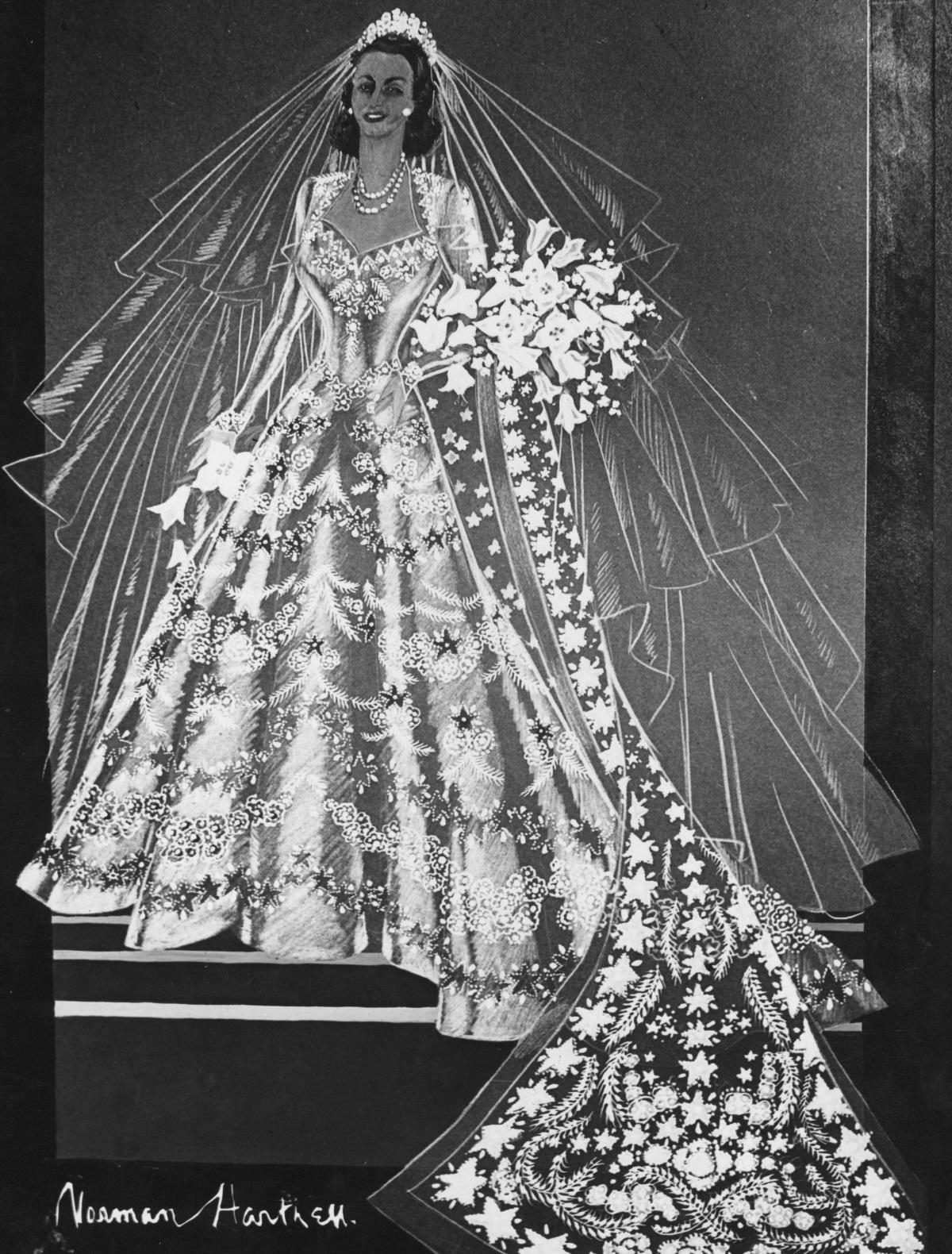 Роклята на Елизабет II за сватбата ѝ с принц Филип през 1947 г. струвала 47,1 хил. долара.