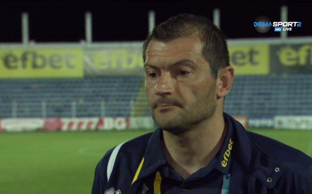 Треньорът на вратарите на Верея Стоян Колев анализира мача с
