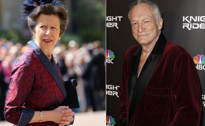 Сравниха роклята на принцеса Ан с халатите на Хю Хефнър