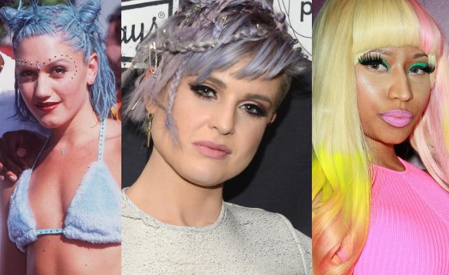 Звездите с много цвят в косите. Най-нестандартните прически