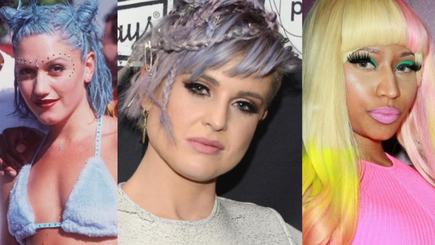 Звездите с цвят в косите. Най-нестандартните прически