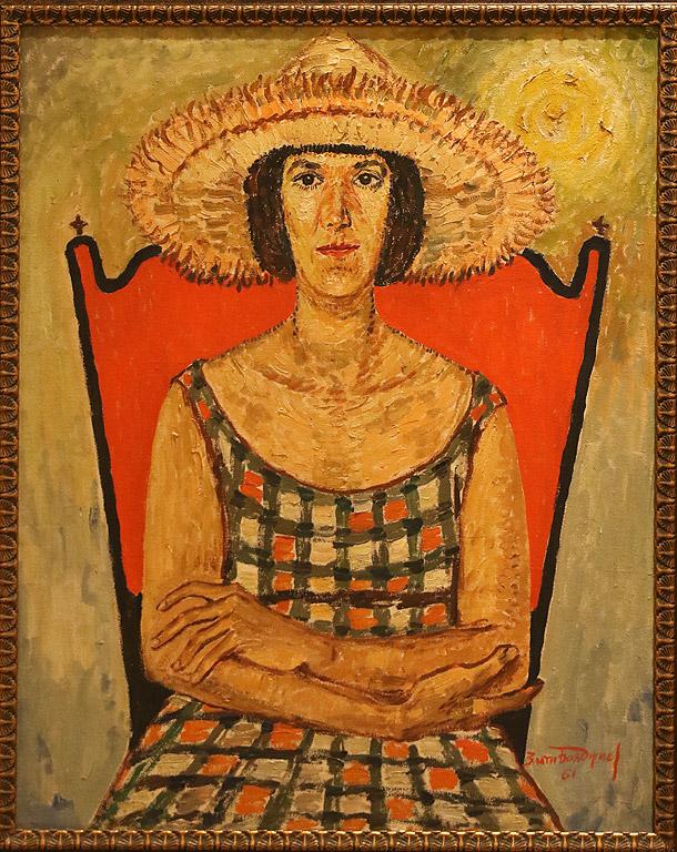 Портрет на художничката Мария Столарова, 1961