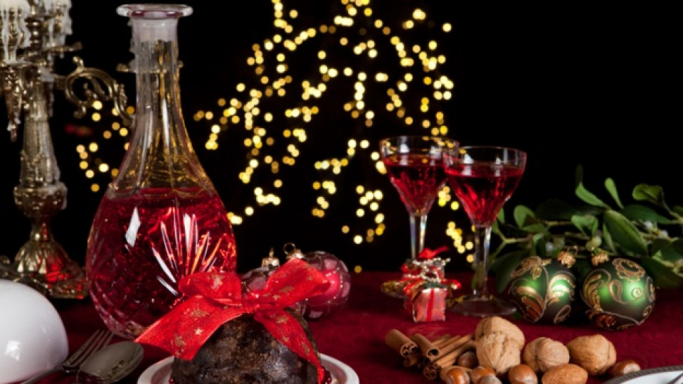 Коледен кекс с червено вино