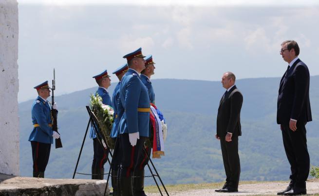 Румен Радев и Александър Вучич