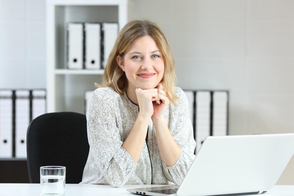 жена офис професионалист колега работа