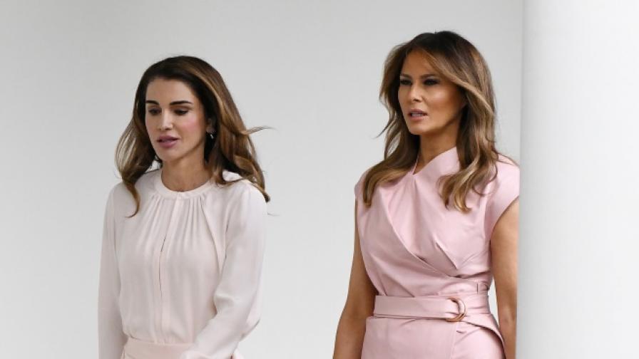 Мелания и кралица Рания - моден дуел в розово