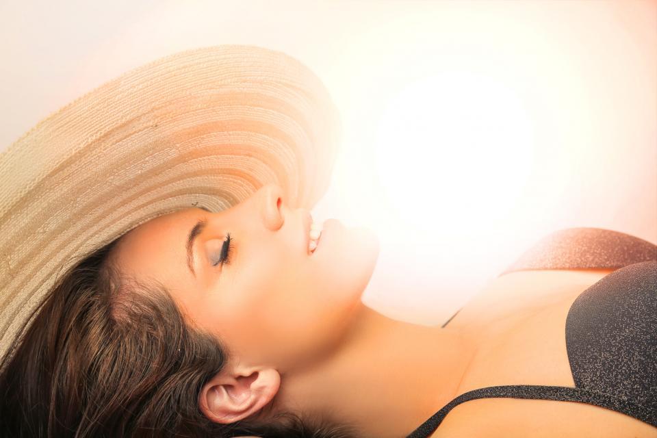 жена слънце лято кожа тен загар