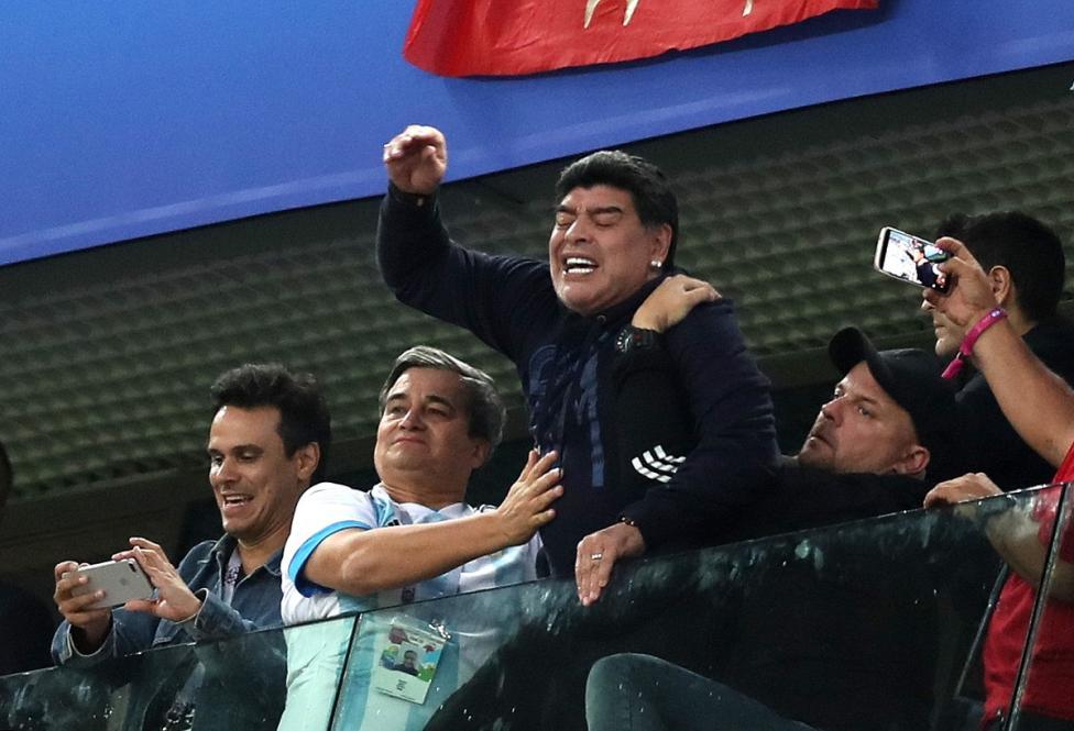 - Марадона и неговите реакции