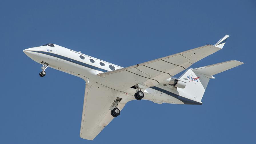 Тестов самолет на НАСА, който използва три модификации за намаляване на шума.