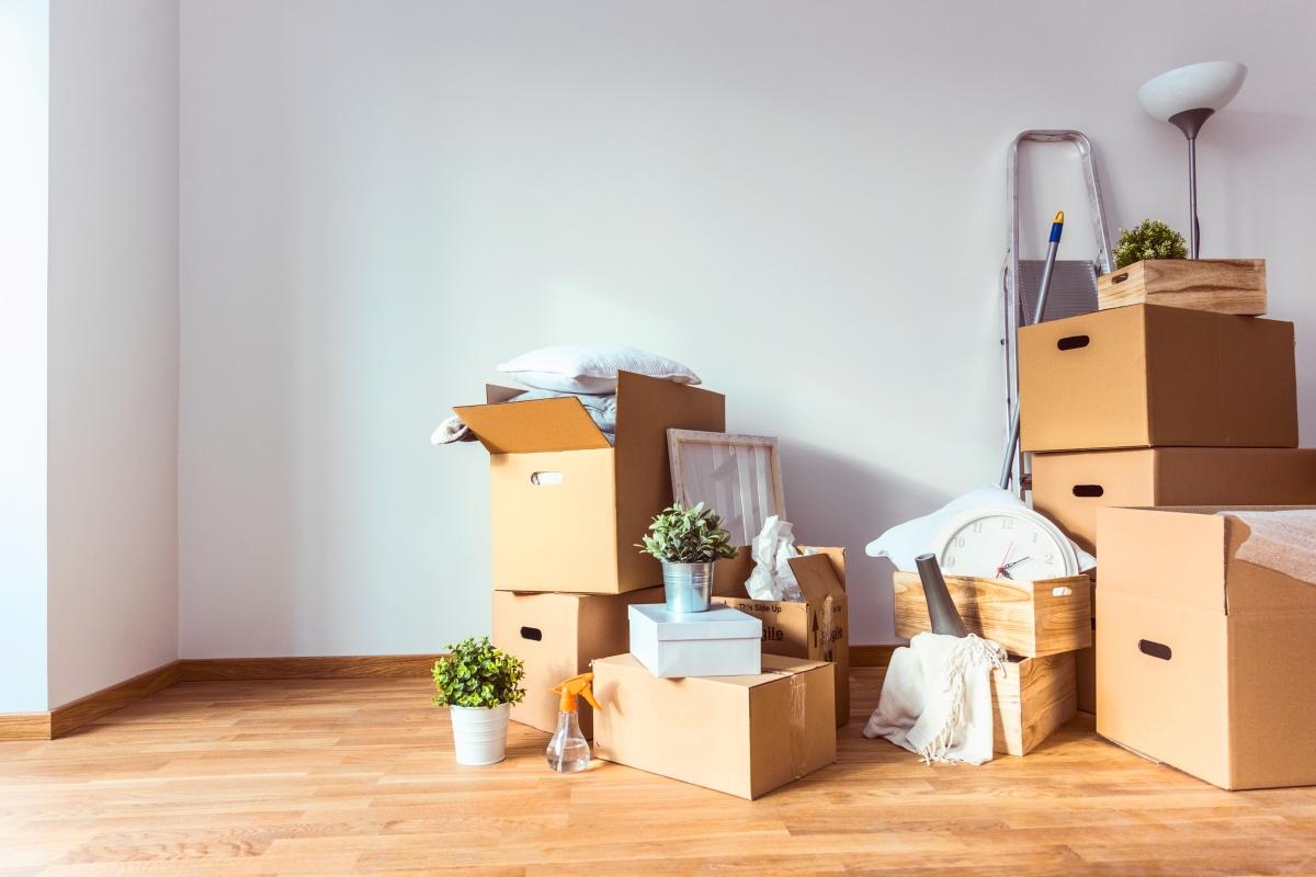 Прекалено много кутии за вещи. Ако имате как ги редуцирайте или приберете в килера.