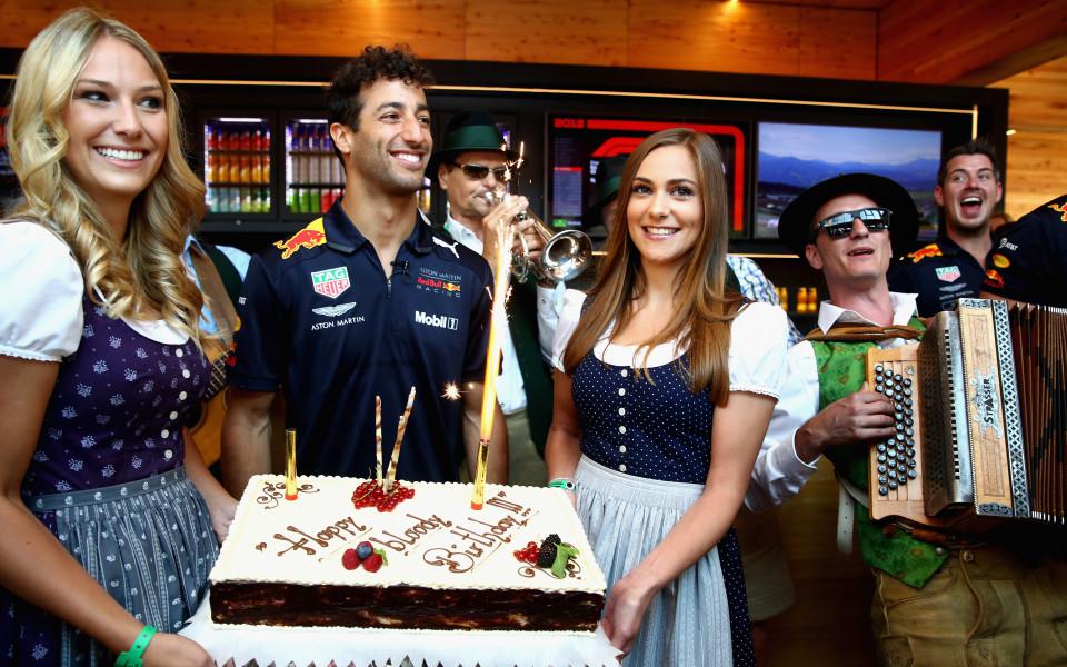 Дани Рикардо рожденик за Гран При на Австрия
