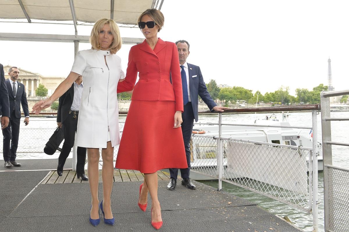 Брижит Макрон посрещна Мелания Тръмп в Париж миналото лято