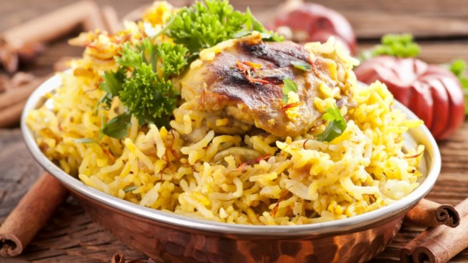Пиле с ориз на фурна