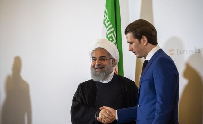 На 4 юли иранският президент Хасан Рухани се срещна във Виена с австрийския канцлер Себастиан Курц