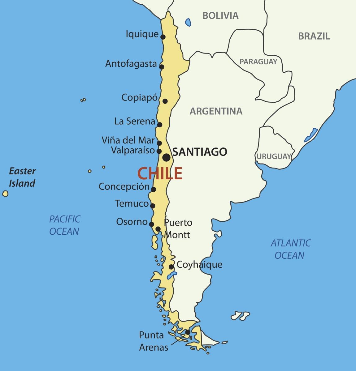 """""""Там, където земята свършва"""". Това е значението на Чили. Идва от думата за край на земята на местните от племето мапуче."""