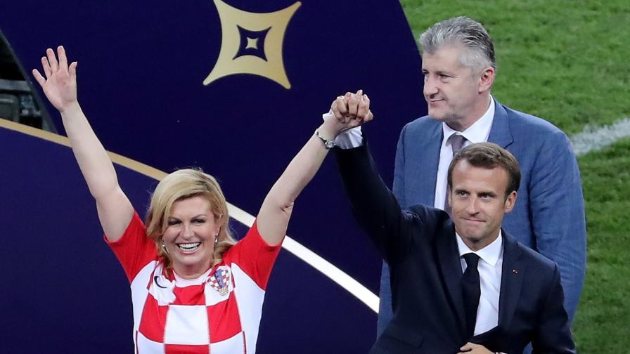 Макрон и красивата президентка на Хърватия събраха погледите