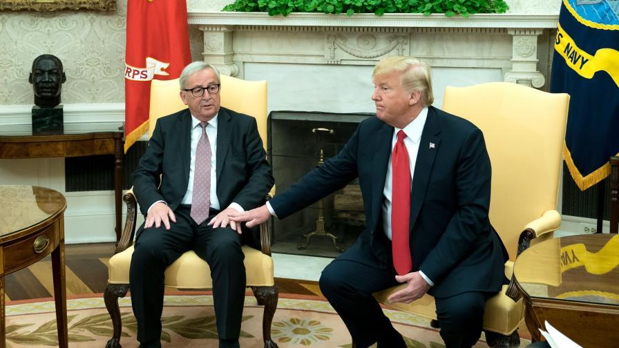 <p>Тръмп и Юнкер сключиха сделка в САЩ, какво предстои</p>