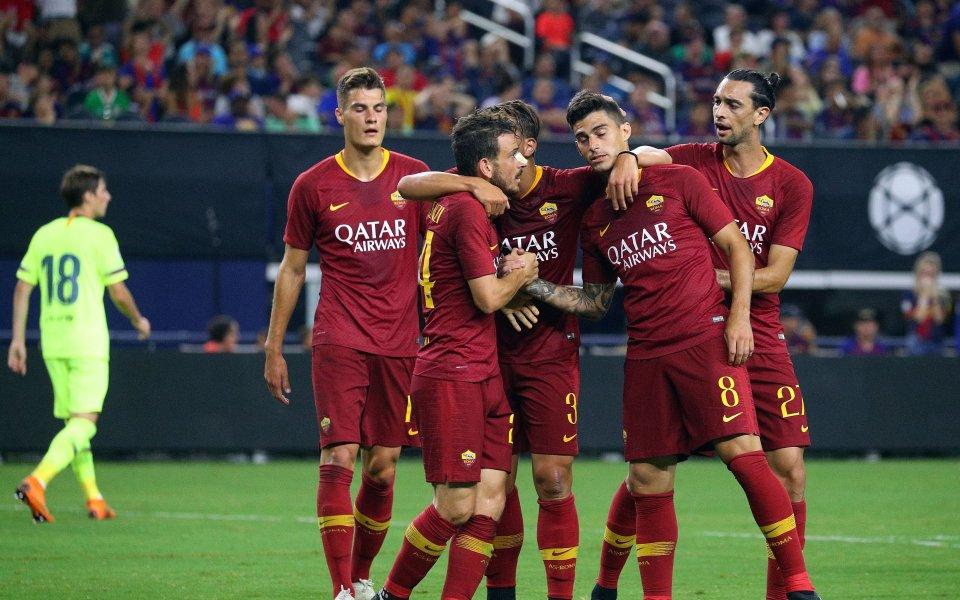 Малком вкара за Барса, но Рома се смя последен