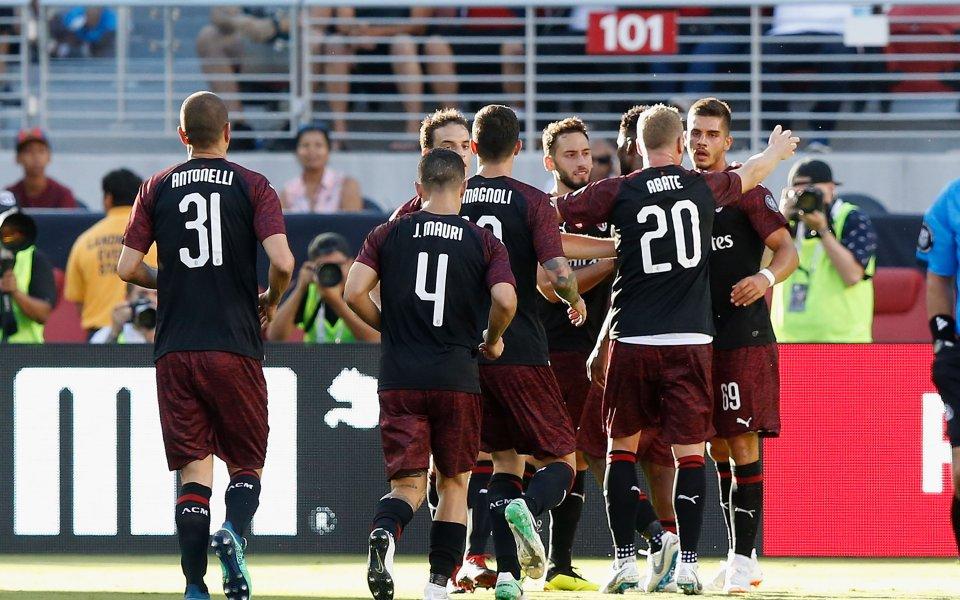 Милан излъга Барса с късен гол