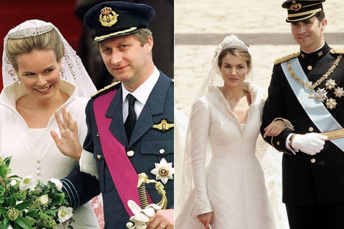 Кралица Матилда на Белгия и испанската кралица Летисия