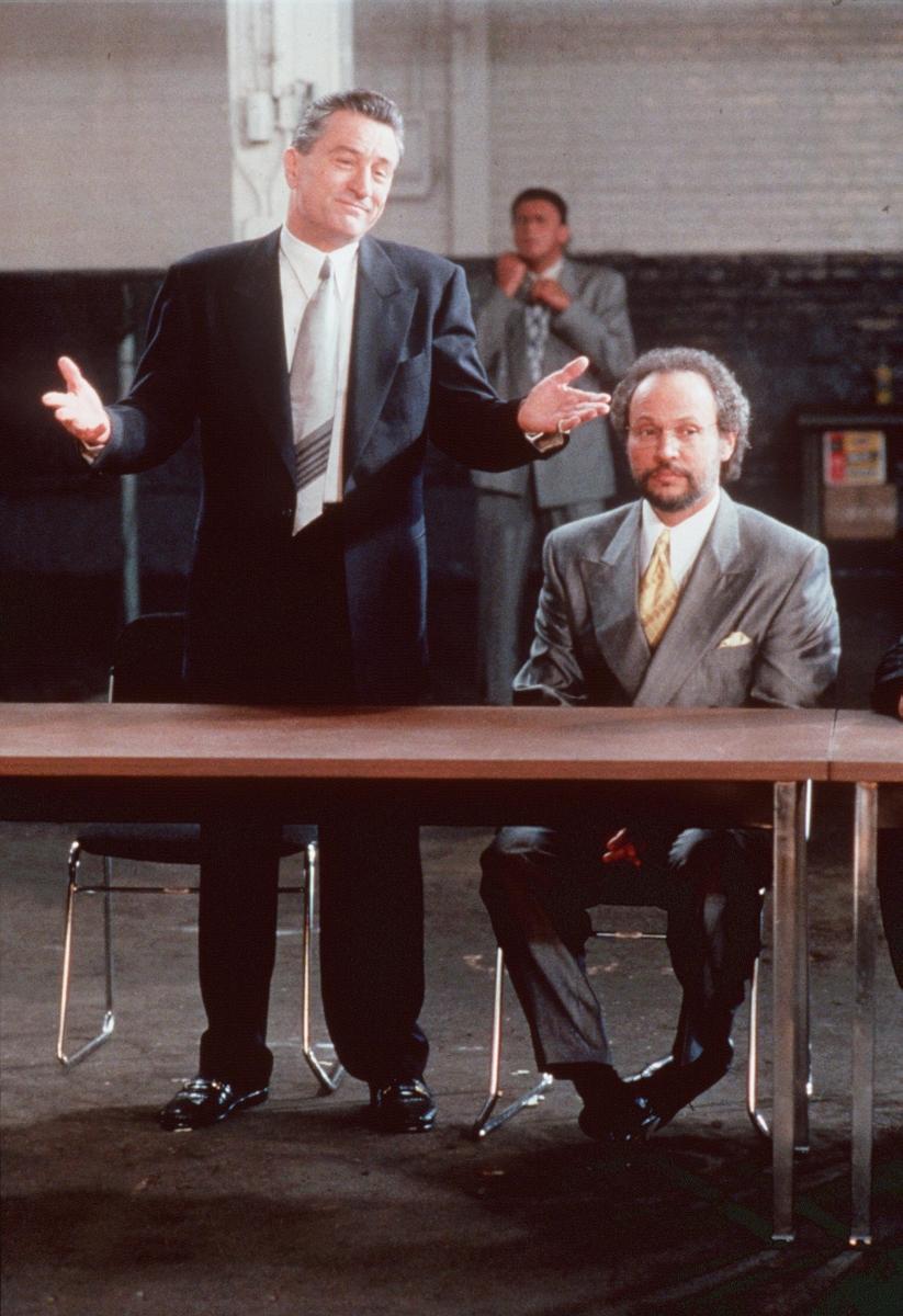 """Робърт Де Ниро и Били Кристъл в култовата комедия """"Анализирай това""""."""