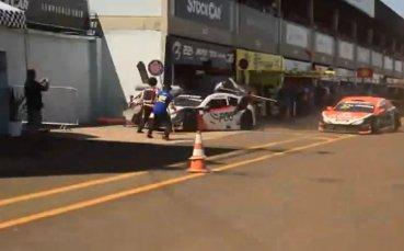 Ужасяваща катастрофа на състезание в Бразилия
