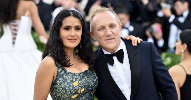 Салма Хайеки съпругът ѝ – бизнесменът Франсоа-Анри Пино, наскоро се