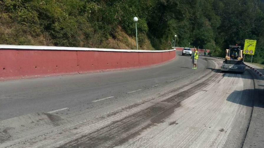 Започва асфалтиране на злополучния участък край Своге