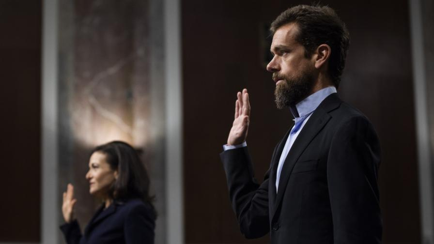 Шефовете на Фейсбук и Туитър пред американския Сенат