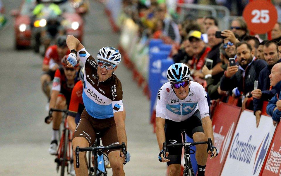 Първа победа в Гранд Тура за американеца Сеп Кус в 15-ия етап на Вуелтата