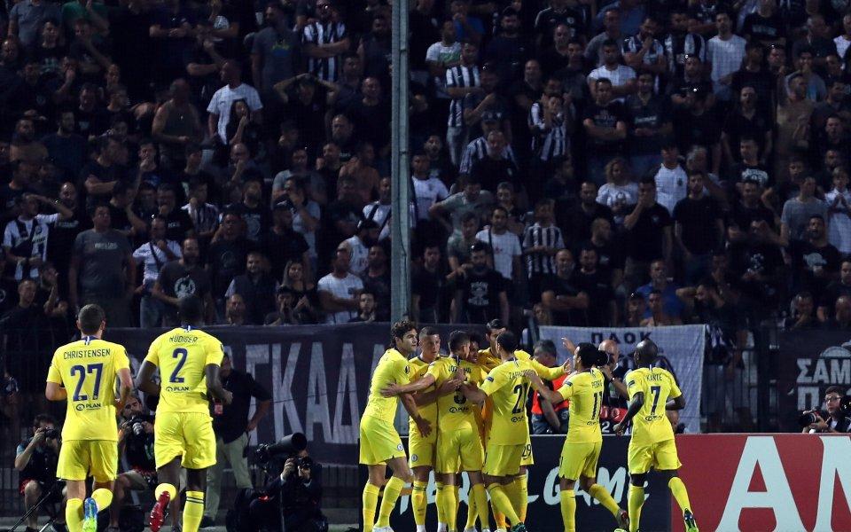 Челси се смили над ПАОК, Миланов не помогна на Видеотон