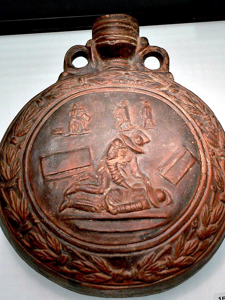 <ol>  <li>Потта на много известни гладиатори се бутилирала и се продавала на жените като афродизиак.</li> </ol>