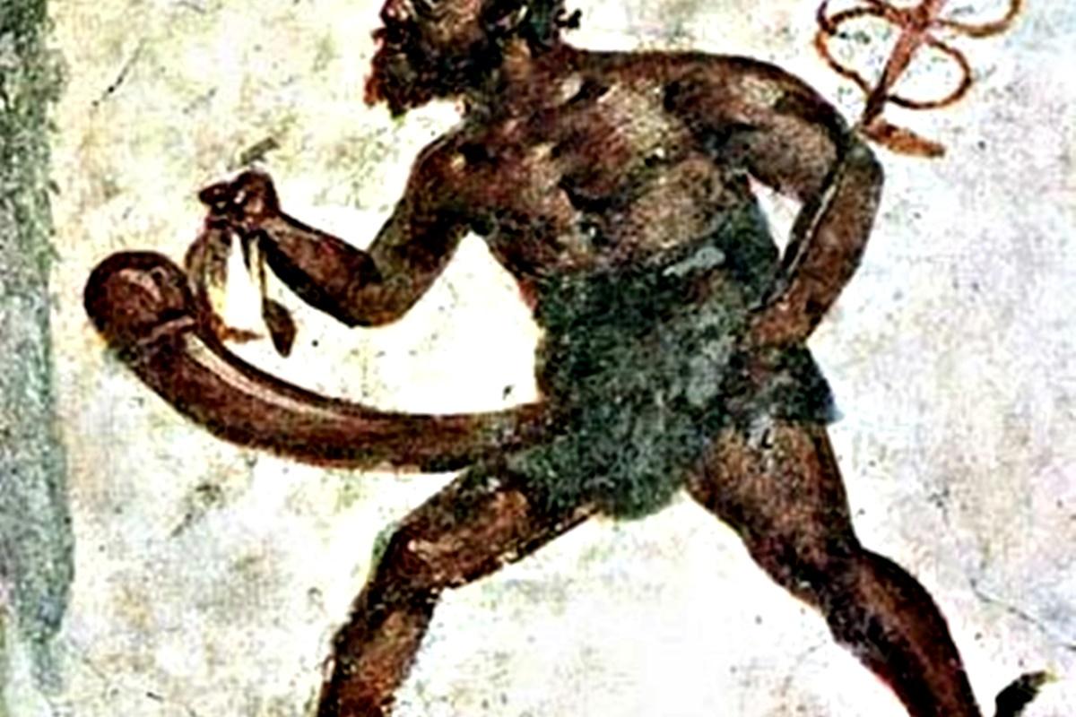 <ol>  <li>Фалосът играел централна роля в изкуството в Древен Рим. Римляните носели амулети с пениси за късмет, в домовете си поставяли скулптури на пениси и покривали подовете и стените си с мозайки с фалоси.</li> </ol>