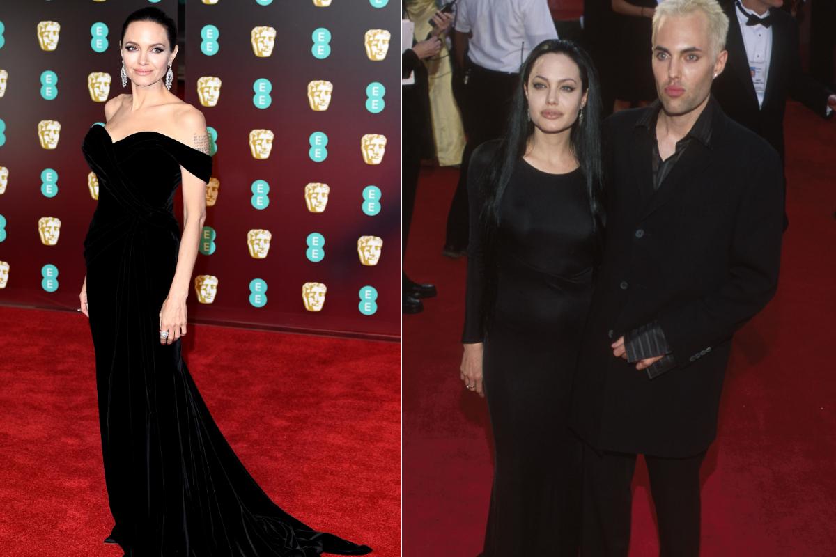 Анджелина Джоли (2000-2018) - през тези 18 години стилът на актрисата определено претърпя големи проблеми. Както и поведението ѝ. Но на тези две снимки се вижда, че тя не изневерява на две неща - стилните изчистени рокли и черното.