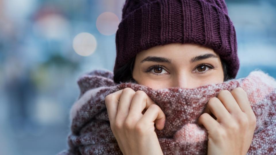 жена уют есен зима