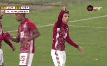 Десподов дава класическа преднина за ЦСКА над Етър