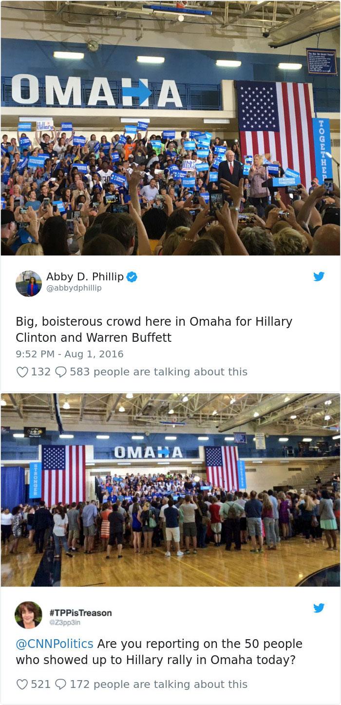 Предизборна реч на Хилари Клинтън в Омаха.