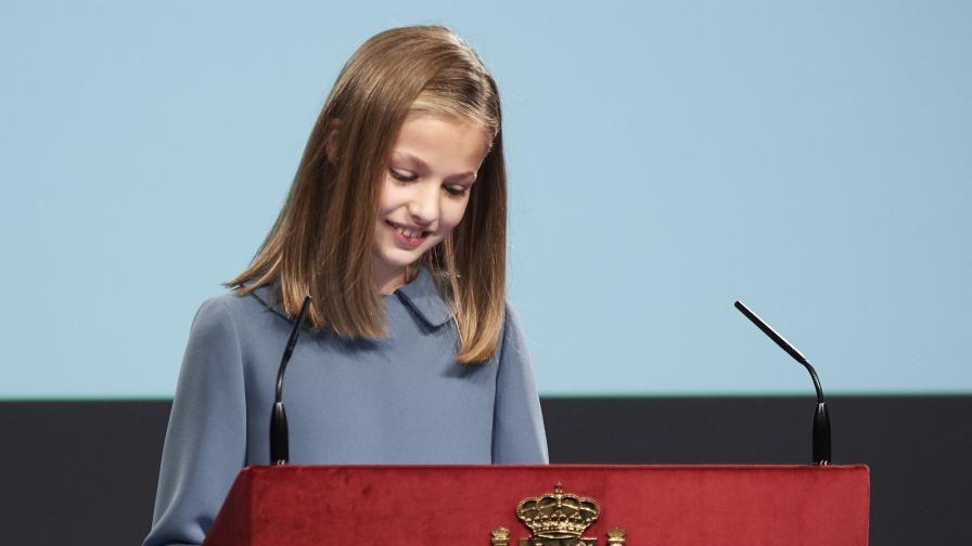 13-годишната принцеса на Испания с първа изява