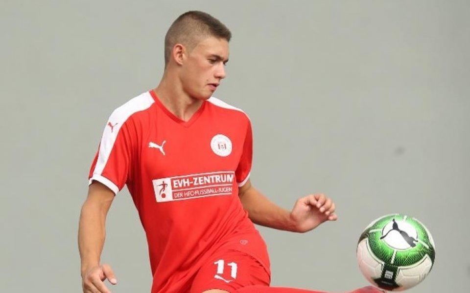 Юношески национал с два гола в Германия