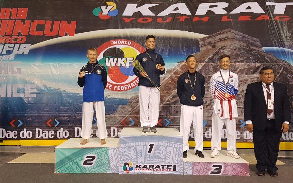 Четири медала за България на Световната младежка карате лига в Мексико