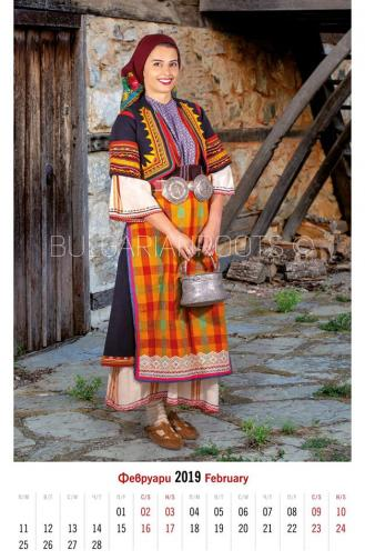 Празнична женска носия от района на Дедеагач (втората половина на ХIХ в.)<br /> Women's festive garb from Dedeagach region (second half of the 19th century)<br /> Модел: Ваня Костадинова<br /> Model: Vanya Kostadinova