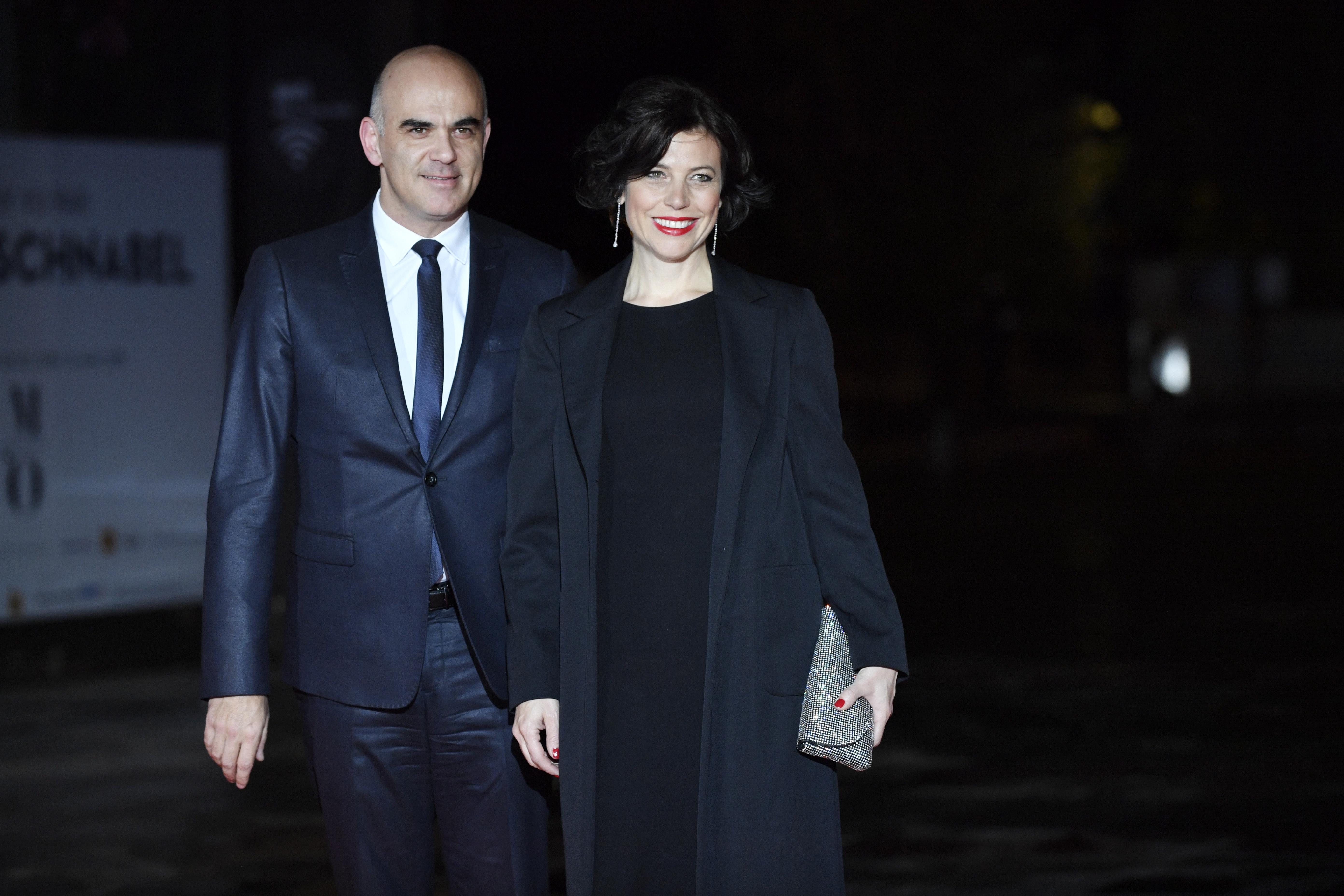 Президентът на ШвейцарияАлен Берсе и съпругата му