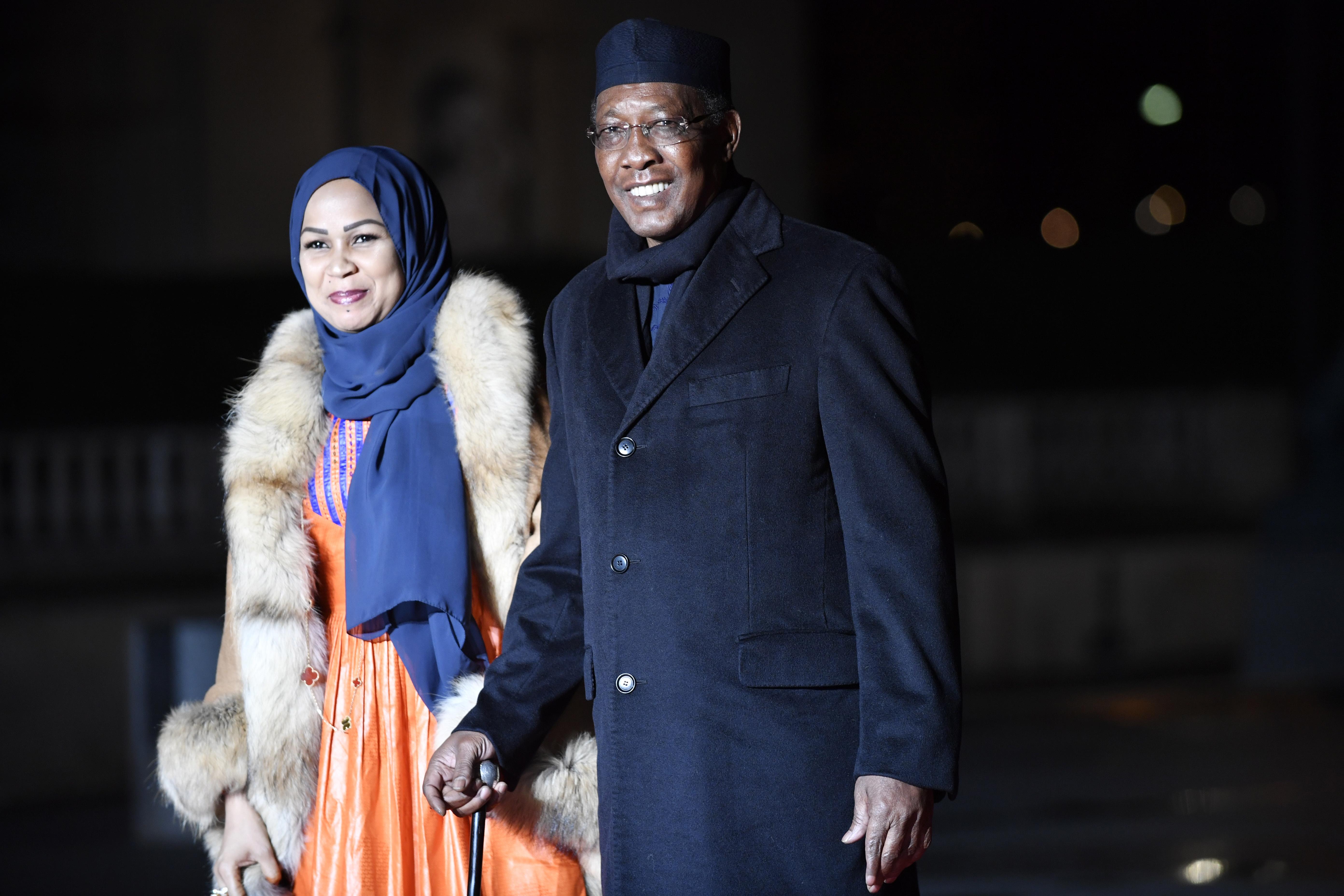 Президентът на ЧадИдрис Деби и съпругата му