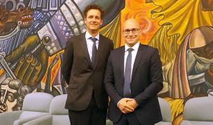 От ляво надясно: Даниел Дрюър, длъжностно лице по защита на данните и ръководител на звеното за защита на данните в Европол и Пламен Славов, DPO на Credissimo