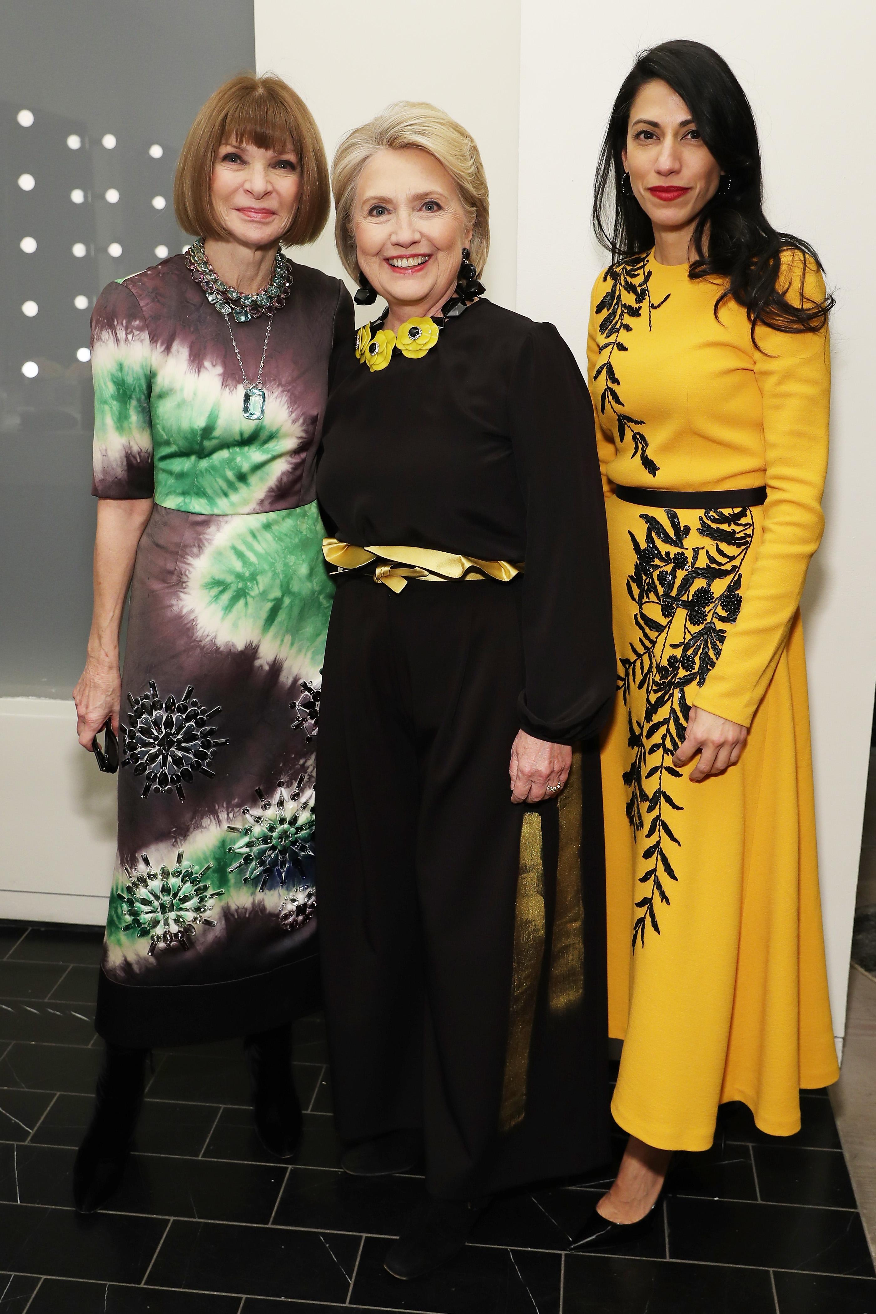 Главната редакторка на Vogue Ана Уинтур и Хилари Клинтън