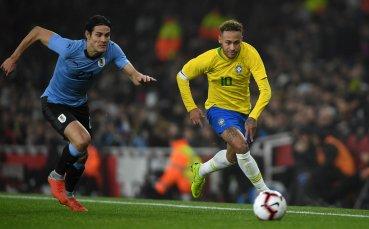 В пищна латинска драма в Англия, Бразилия удари Уругвай