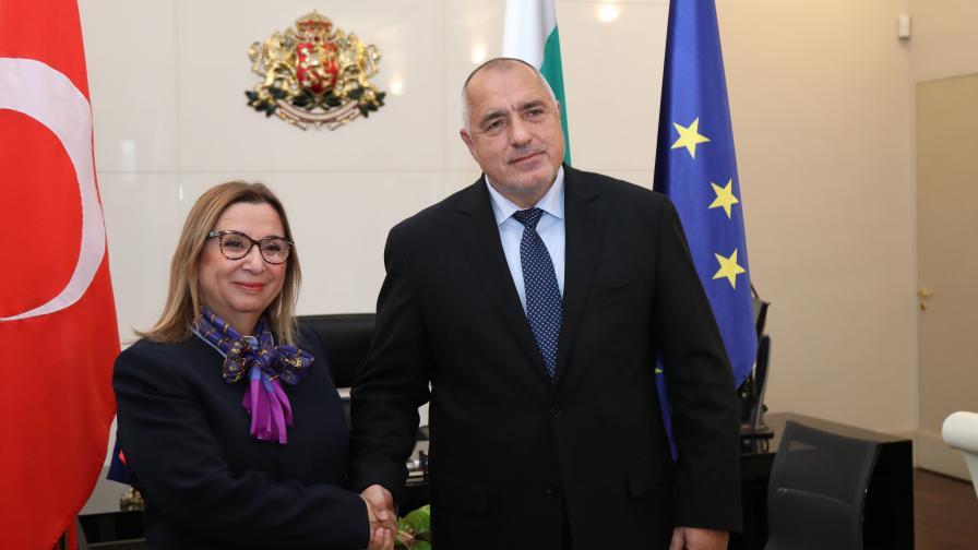 <p>Борисов се срещна с министъра на търговията на Турция</p>